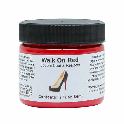 Angelus Walk On Red- Shoes/Boot Sole/Edge Bottom Coat & Restorer for Louboutin