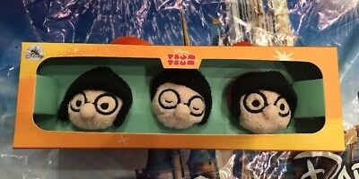 Disney Store Tsum Tsum Incredibles 2 Edna Mode Set of 3 Box IN HAND New