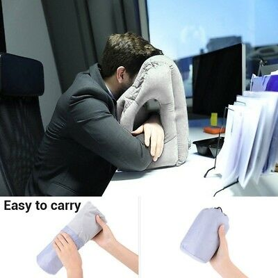 Creative Portable Air Inflatable Travel Pillow Airplane Office Desk Nap Pillows