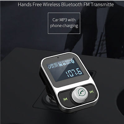 FM Transmitter Car Kit Radio MP3 Music Player LCD USB Charge Wireless Bluetooth