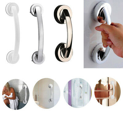 Bath Handle Suction Cup Handrail Grab Bathroom Renters Grip Tub Shower Bar Rail