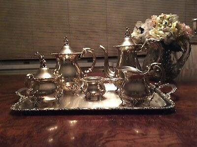 Sterling Silver Antique Tea Set 5 Pieces