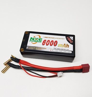 NXE High Voltage 6000mah 100c 2s 7.6v Shorty 2 Cell Lipo Battery W/Deans OZRC
