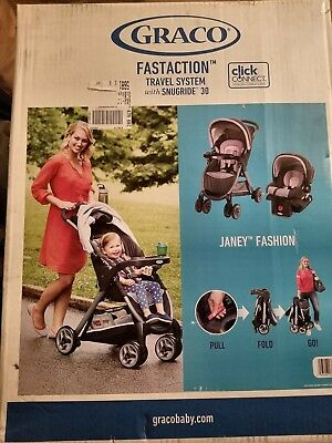 Car Seat and Stroller Graco FastAction Fold Click Connect Travel System - Janey