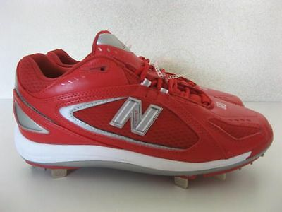 New Balance Mens 1101 Red Baseball Cleats 15 D Metal Spike Pro Model Low Top NEW