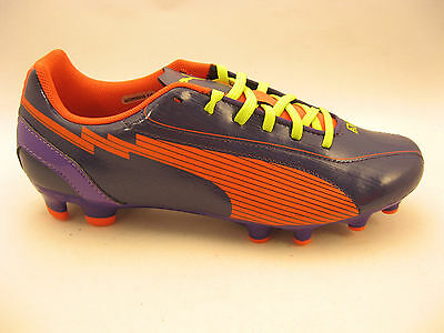42a8d557ee9f PUMA Womens evoSPEED 5 FG Soccer Cleats Size 5.5 Purple Orange  102601 NEW