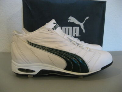 0cafb347d0e PUMA Cell Metal K Mid Baseball Cleats 16 White Green Pro Model NEW 100303   99