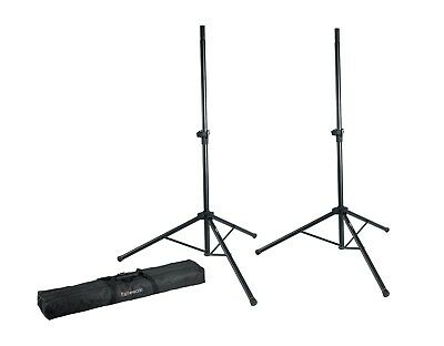 Gator Frameworks Pair of Speaker Stands Heavy Duty + Carry Bag GFW-SPK-2000SET