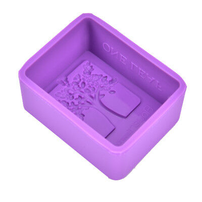 1pc Rectangle Happy Tree Silicone Soap Mold Craft Molds DIY Handmade Soap Mould,