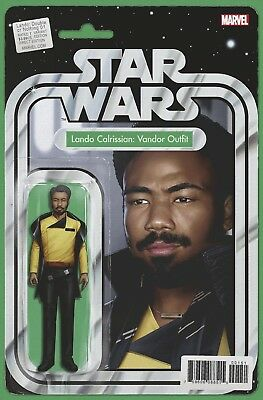Star Wars Lando Double Or Nothing #1 Action Figure Variant Marvel Comics Nm