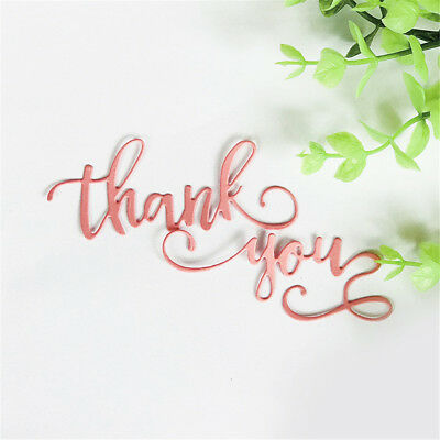 Brief greeting words thank you Metal Cutting Dies DIY Photo Album Craft FT