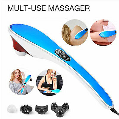 US Electric Handheld Massager Percussion Deep Tissue for Neck Shoulders Back Use