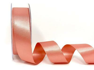 Rose Gold Berisfords Premium Quality Cut Lengths Double Sided Satin Ribbon