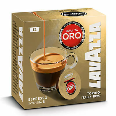 Lavazza A Modo Mio Espresso Qualita Oro Coffee Machine Capsules Pack of 12 Pods