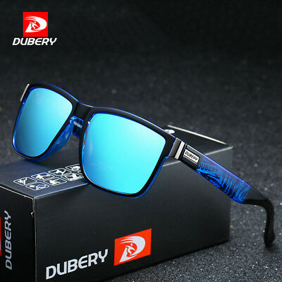 DUBERY Mens Polarized Sport Sunglasses Outdoor Riding fishing Square Eyewear
