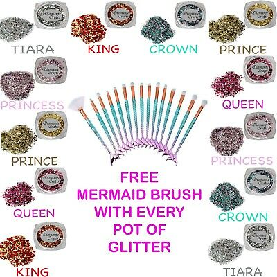 FREE Mermaid Brush with EVERY pot Festival Metallic Glitter
