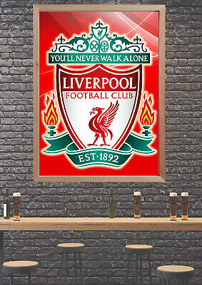 Liverpool Football CLUB LOGO SPORT PHOTO POSTER Print ONLY Wall Art Size A4 REF3