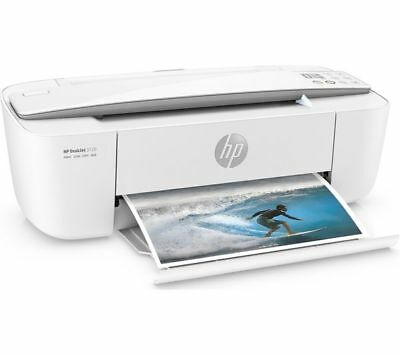 02 HP DeskJet 3720 All-in-One Wireless Printer in White USB and Power cable
