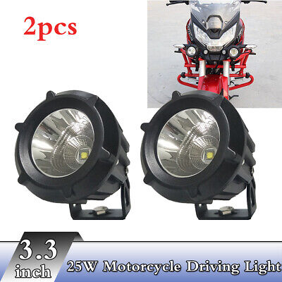 "2x 3.3"" 25W  Led Front  6000K Combo Beam 180° Rotate Motorcycle Driving Light"