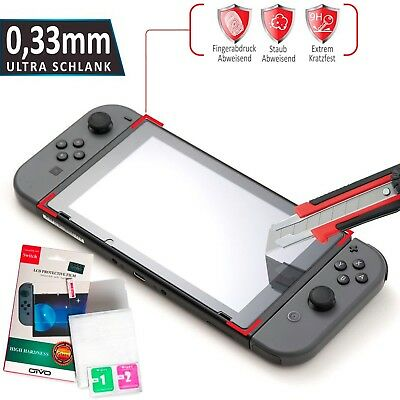 Nintendo Switch Schutzglas Panzerfolie Glasfolie Display Schutz Glas Folie Klar