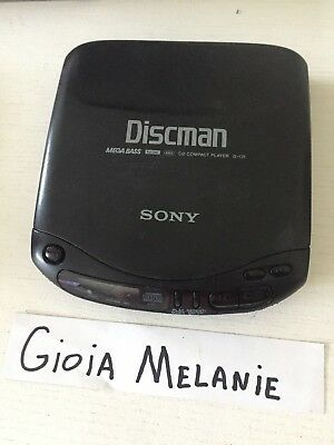 Vintage Sony Discman Portable CD Player D-131 Mega Bass TESTED