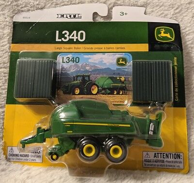 John Deere LP53302 ERTL L340 Large Square Baler 1/64 Scale Die-Cast Toy