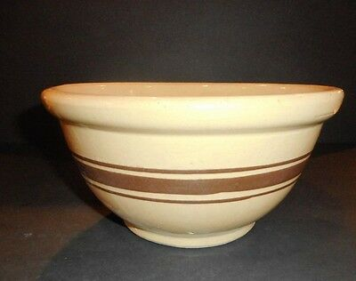 Vintage Robinson Ransbottom Pottery RRP Small Yellow Ware Mixing Bowl w/ Band