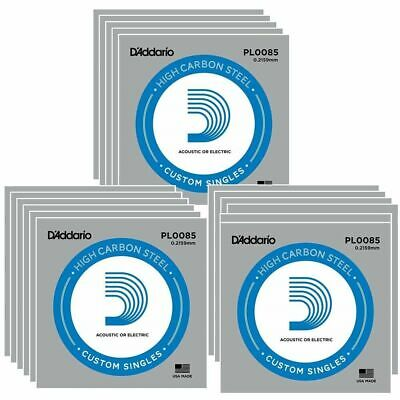 15x D'Addario plain steel Electric / Acoustic Single Guitar string gauge .0085