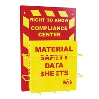 SAS Safety 6000-75 MSDS Compliance Center- Wall Mount
