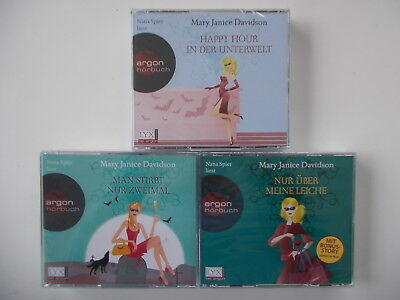 3x MARY JANICE DAVIDSON Hörbuch CD - Man stirbt nur zweimal / Happy Hour in...