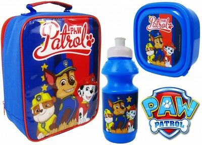 Official PAW Patrol Chase 3pc Lunch Bag Sport Bottle&Sandwich Box Back To School