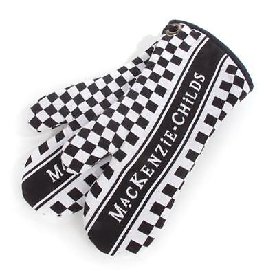 Authentic Mackenzie Childs    MacKenzie-Childs Oven Mitts - Black & White New