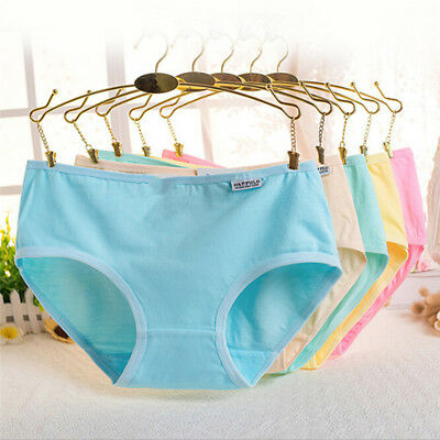 Lady Women's Cotton Underwear Briefs Panties Knickers Lingerie Candy Colors MAZY