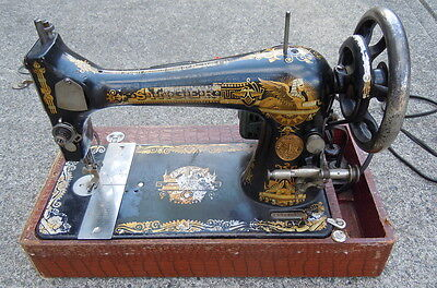 Singer Sewing Machine Sphinx 1899 - Accessories - Electric, No Lid