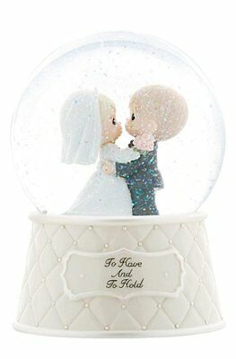 precious moments wedding figurines Musical To Have And To Hold Snow globe