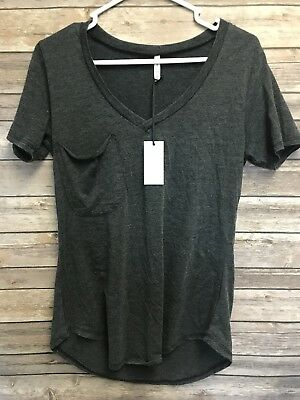bd31317b2c1a5 Womens Z Supply Pocket Tee Tshirt Gray Size Small NWT