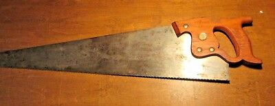 "Vintage Disston Hand Saw ~ 26"" ~ old antique tool VGC-number 8-"
