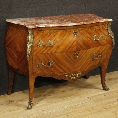 dresser dresser drawers furniture french wood inlaid antique style louis XV