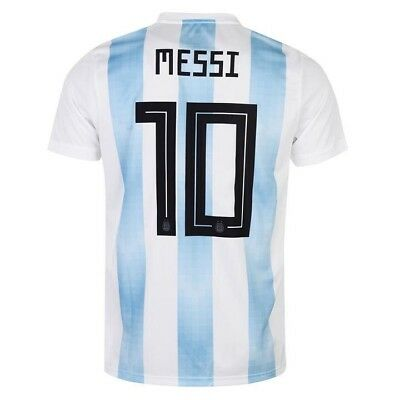 adidas Argentina Home MESSI  10 Soccer Jersey World Cup Russia 2018 Size S 3ecc8120c