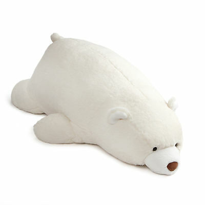 GUND Large Laying Down Snuffles Teddy Bear Plush Animal 27-in, White