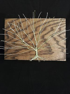 Tree Of Life Metal And Wood Wall Art Handmade Home Decor Wire