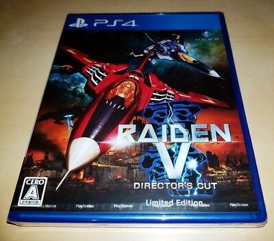 PS4 Raiden V Director's Cut Limited shmups JAPAN  BRAND NEW factory sealed