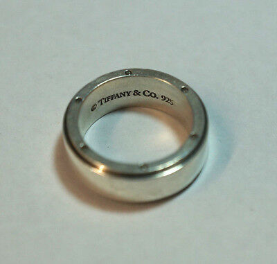 cc06fd1d6 TIFFANY & CO Mens Designer Metropolis Band Ring Sterling Silver 925 ...