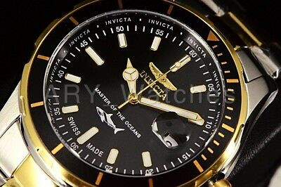 25814 Invicta Pro Diver Master Of The Oceans SWISS MADE 2-Tone GP SS Band Watch