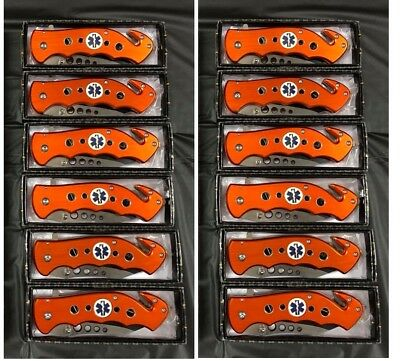 12x Tac Force Spring Assisted EMT EMS Emergency Rescue Ambulance Pocket Knife