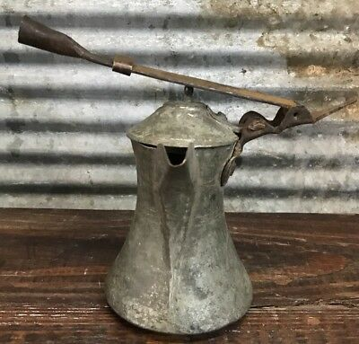 ANTIQUE BRASS DALLAH ISLAMIC MIDDLE EASTERN BEDOUIN ARABIC COFFEE POT w/ HANDLE