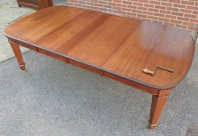 LARGE Victorian antique solid mahogany extending dining table seat up to 14