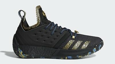 a6e7393377bd Adidas Basketball James Harden Boost Vol 2 NBA Mvp 2018 Black Gold Men  F36848
