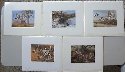 International Quail Research Foundation Prints and Stamps 1982,83,84,85,&86  SET