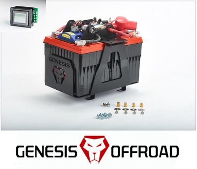 Genesis Offroad Dual Battery Kit w/ 200A Isolator & Monitor 14-18 Toyota Tundra